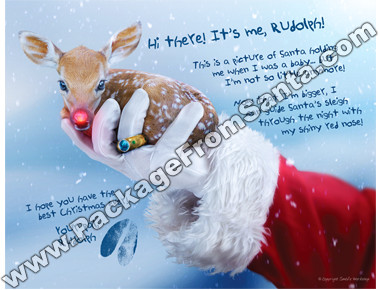 Autographed Baby Rudolph Photo
