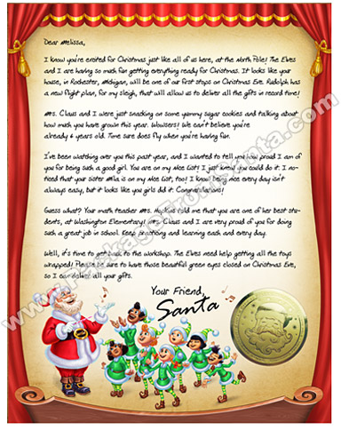 Personalized-Letter-Santa Official Printable Santa Claus Letter Template on stationery free, black free,