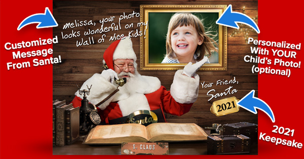Personalized Santa Photo