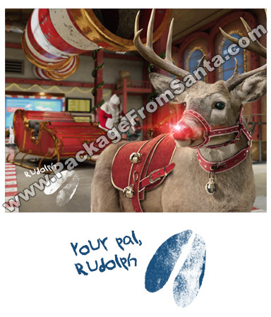 Rudolph in Sleigh Garage