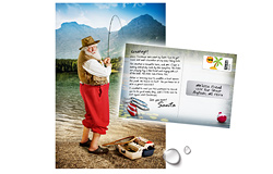 2018 Santa Claus on Vacation Postcard