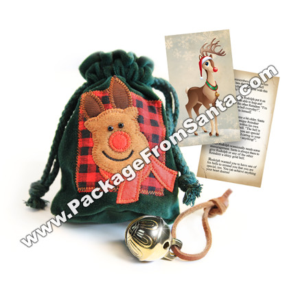Rudolph's Bell with Velvet Pouch