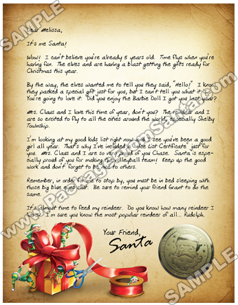 Packagefromsanta personalized letter from santa claus packagefromsanta personalized letter from santa claus spiritdancerdesigns Images