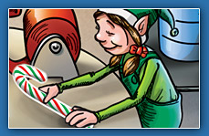 by izzy the elf genuine peppermint candy cane directly from the elf s ...