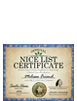 2016 Personalized Nice Certificate