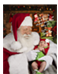 Glossy 8 1/2 X 11 Autographed Santa Claus Photo