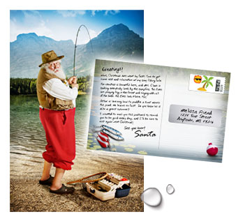 Santa on Vacation Postcard