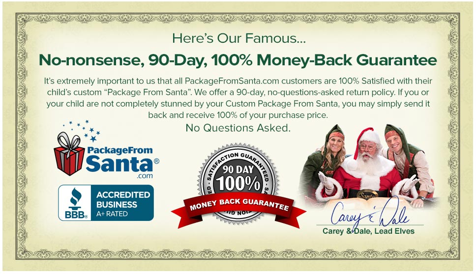 order personalized letters from santa claus north pole address