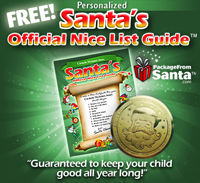 Free Personalized Santa Nice List Guide