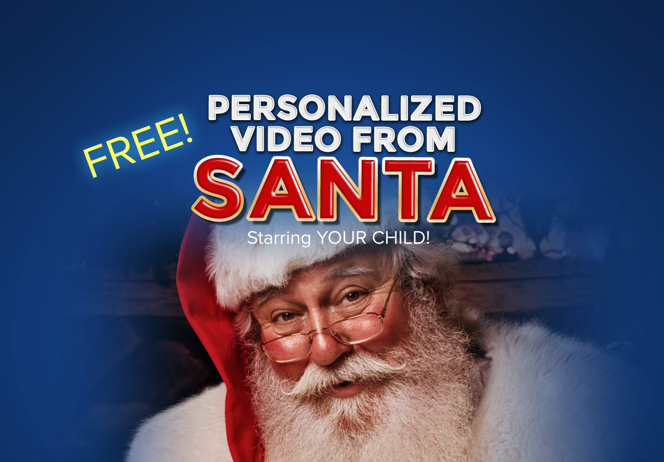 a free personalized video from santa claus app free video from
